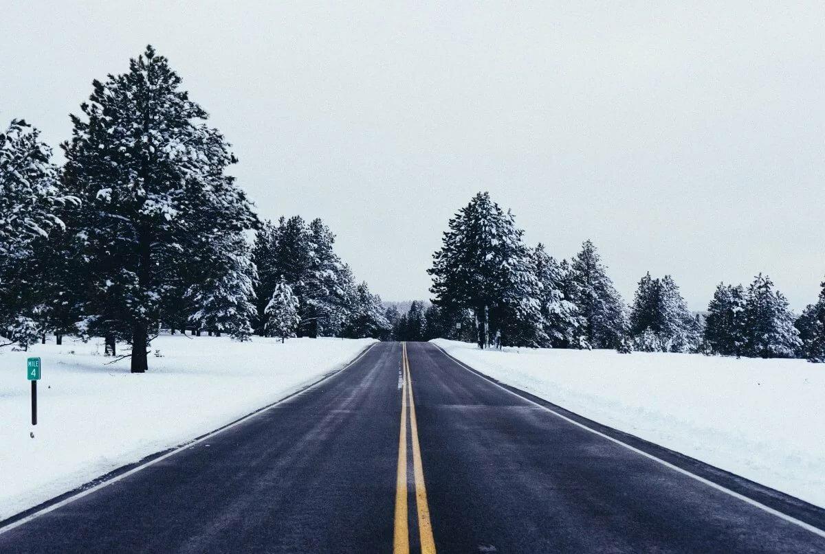 Картинка снежная дорога для детей