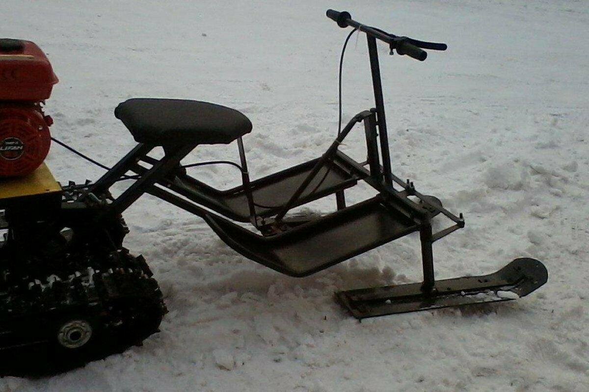 Лыжный модуль для мотоблока