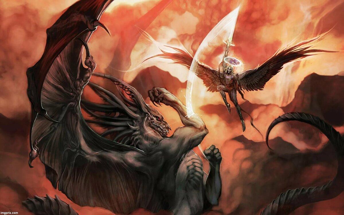 Летающий демон картинки