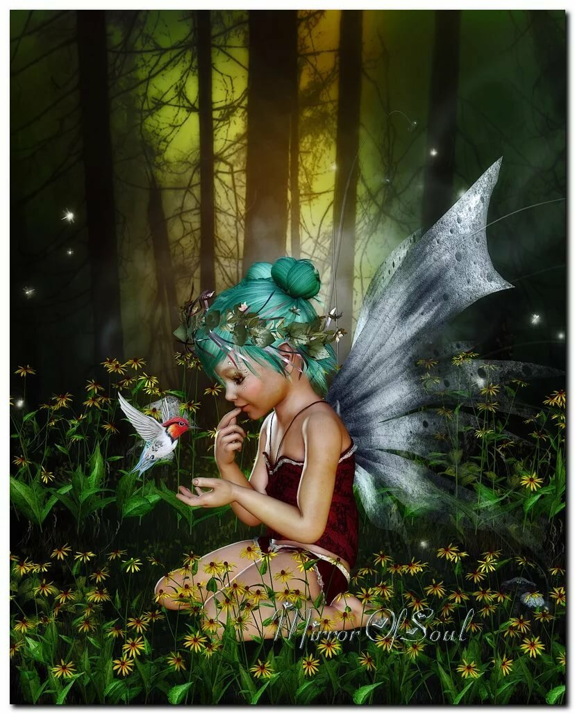 сценический умные картинки с феями и эльфами призраком