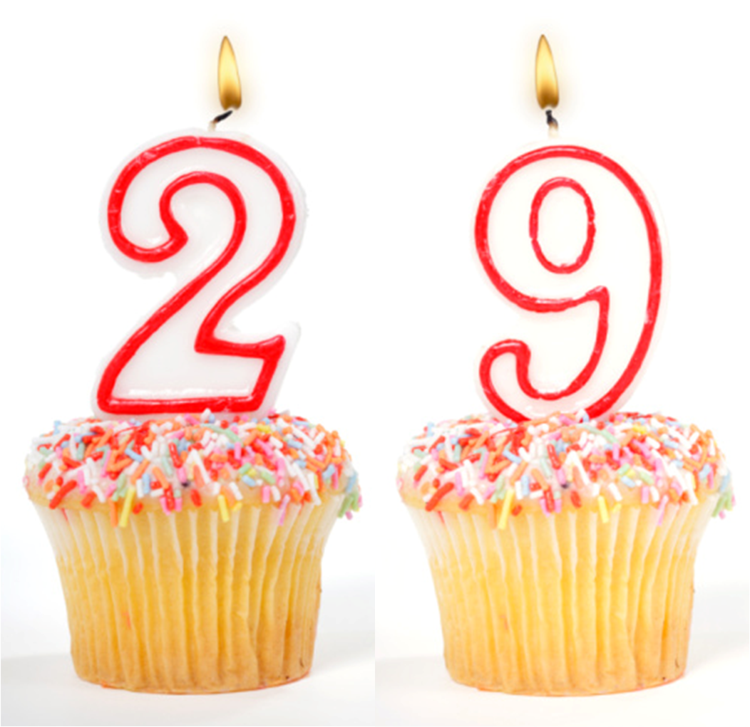 Открытка с днем рождения девушке 29 лет