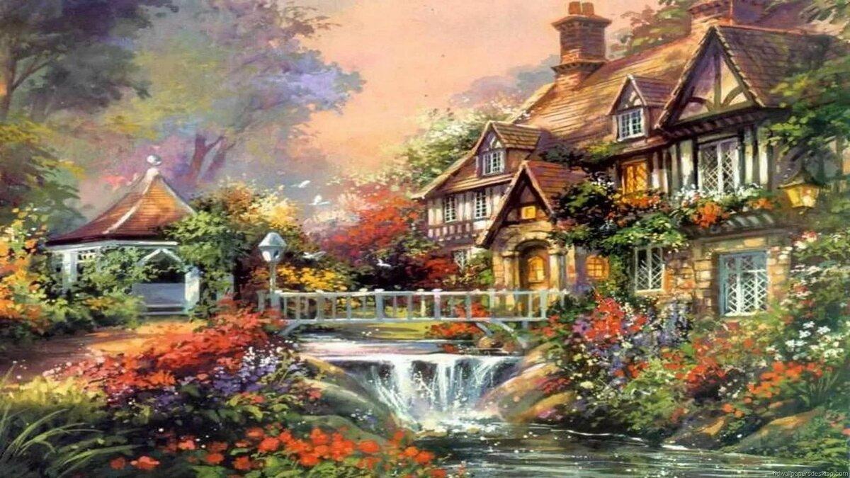 сказочные домики картинки хорошего качества желанию заказчика