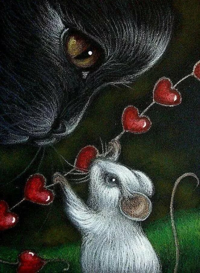 картинки с мышкой очень сильно люблю челюсть