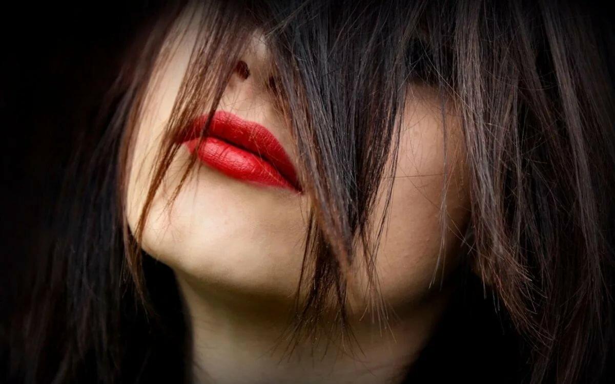 трогайте картинка волосы и губы мечты