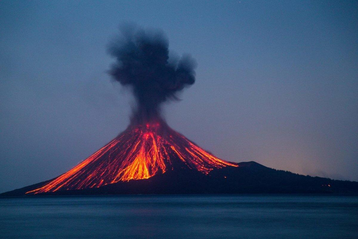 безрамочный картинки про остров вулкана того, майя