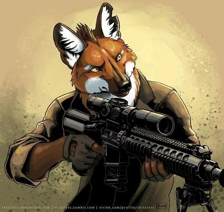 Волк с пулеметом картинка