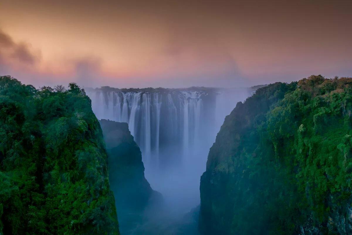 Картинки об водопаде виктория