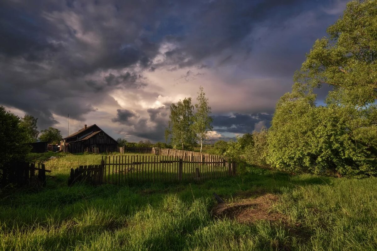 русское сельское пейзаж фото