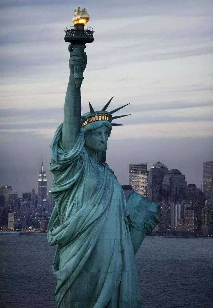 Картинки статуи свободы в нью йорке