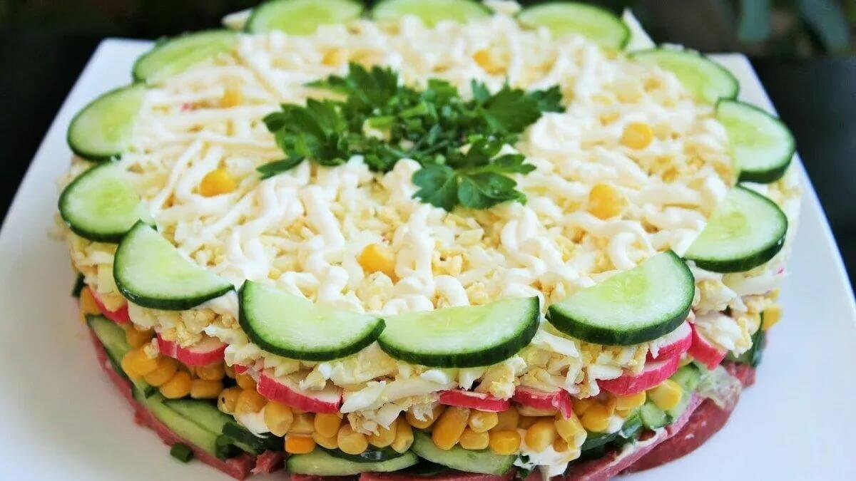 рецепты вкусных несложных салатов уселся