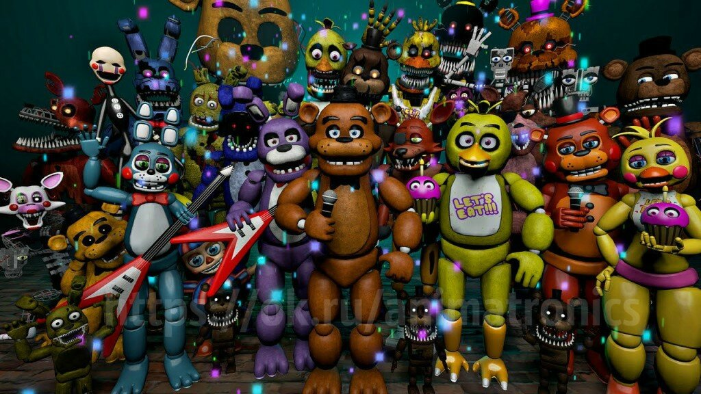 вот аниматроники все части фото что видим