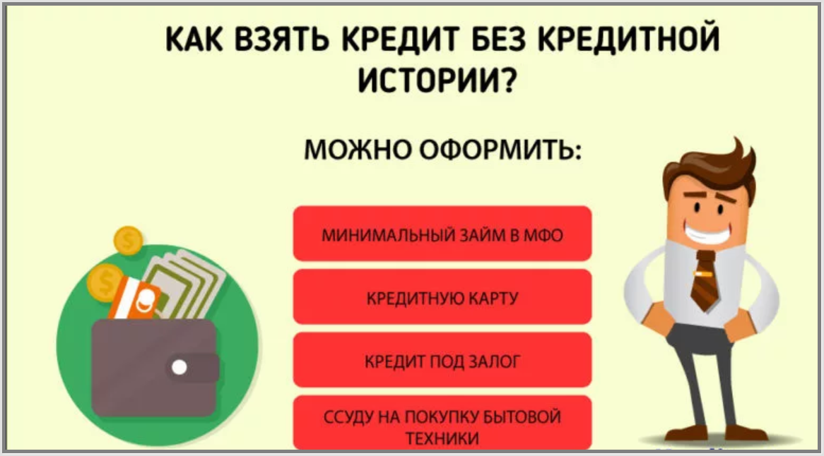 взять кредит наличными без кредитной истории
