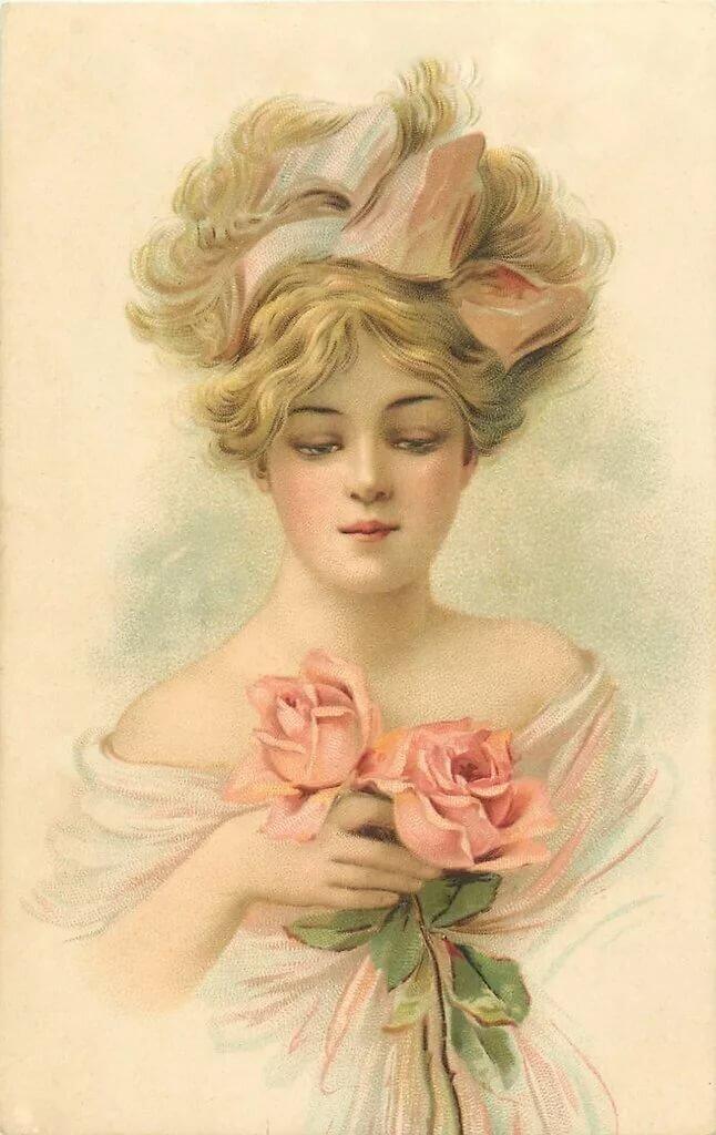 Днем рождения, красивые открытки милые дамы