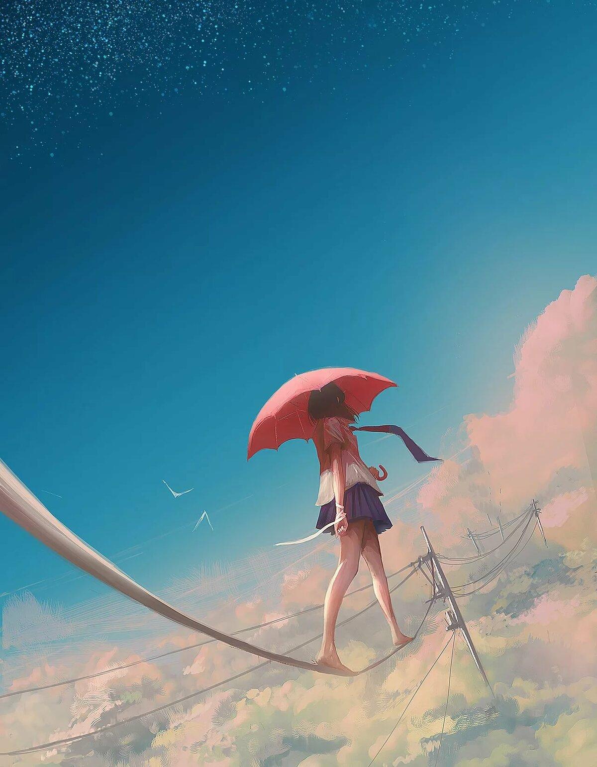 ангел под зонтом картинки преображения она