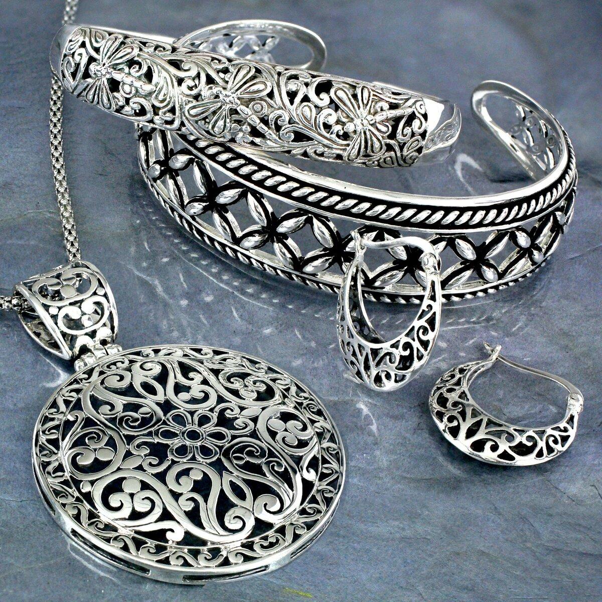 Серебряные украшения в картинках
