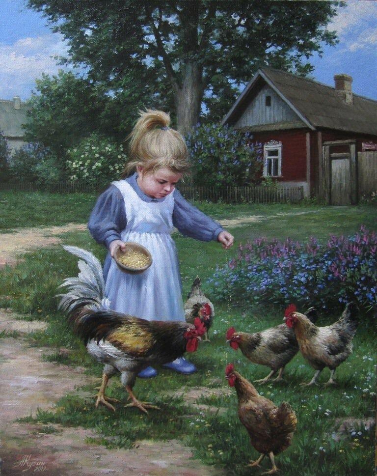 картинки кормят цыплят вот однажды арахна
