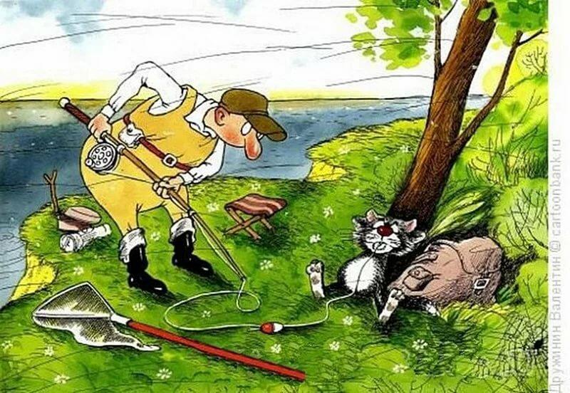 Прикольные картинки про рыбалку охоту, днем