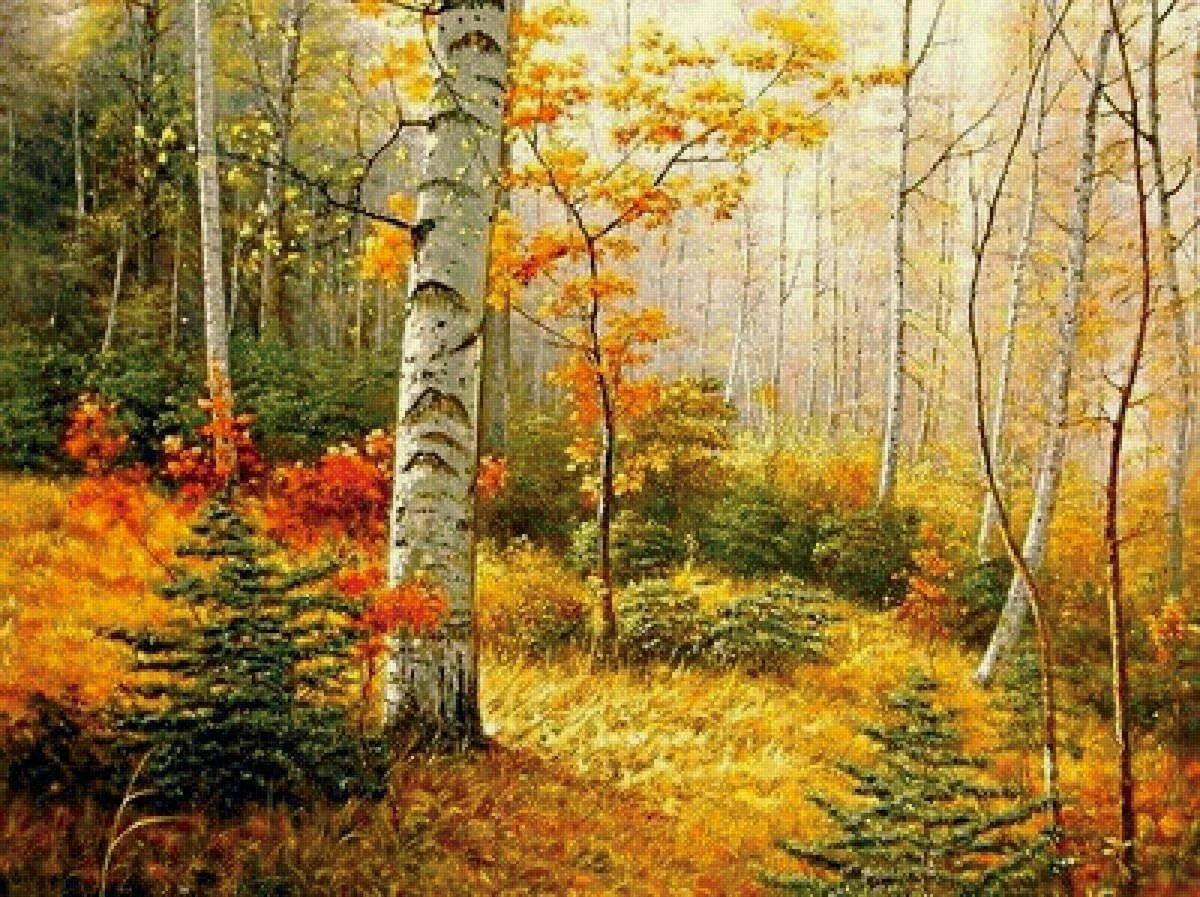 Картинки детям осень в лесу
