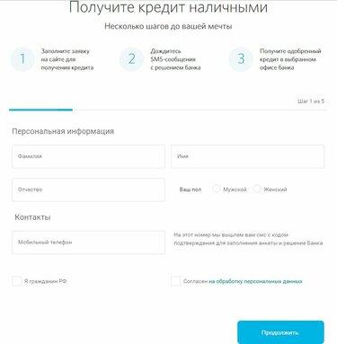 кредит онлайн список банков