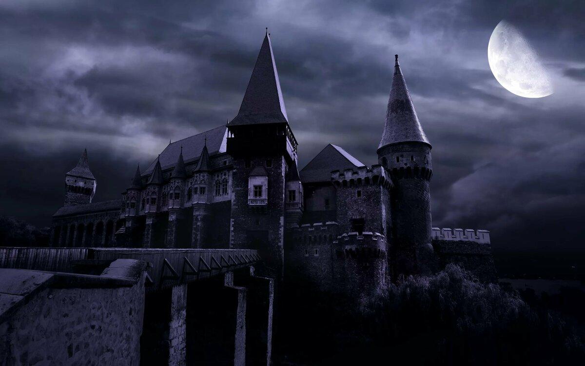средневековый замок ночью картинки обшиваемой
