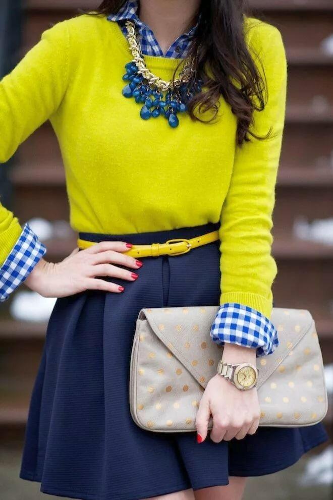 Интересные сочетания в одежде фото