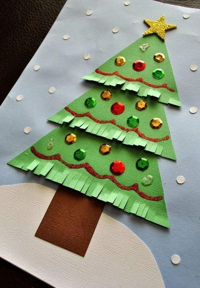 Рождественская открытка своими руками с ребенком