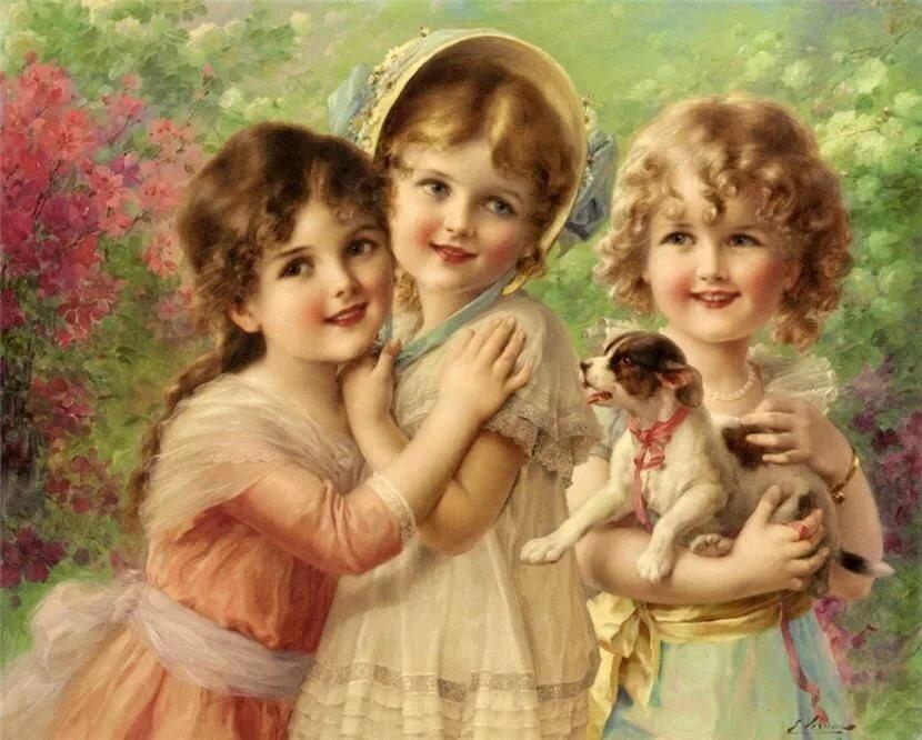 Красивые открытки взрослые дети