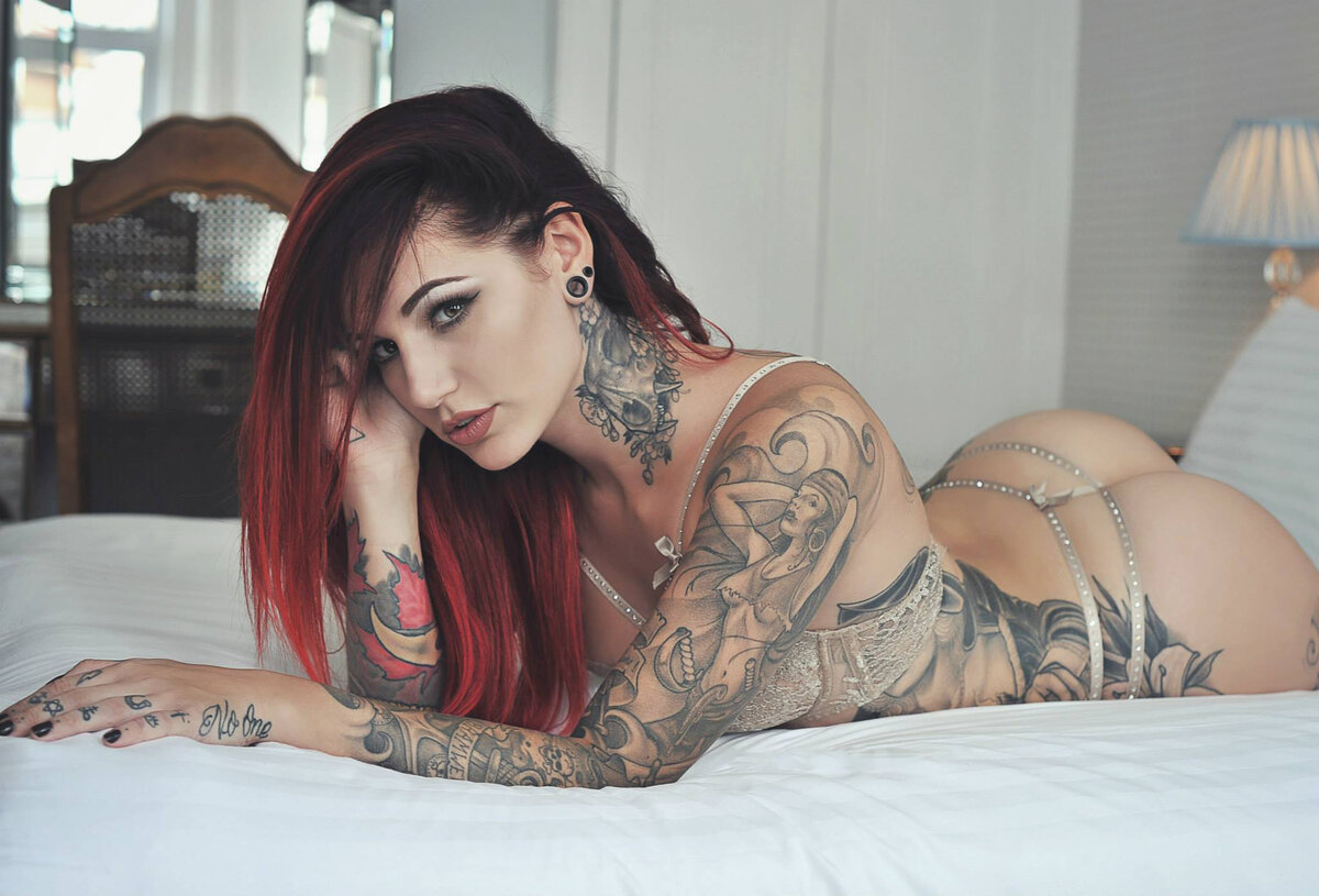 Girls tattoos sexy full length