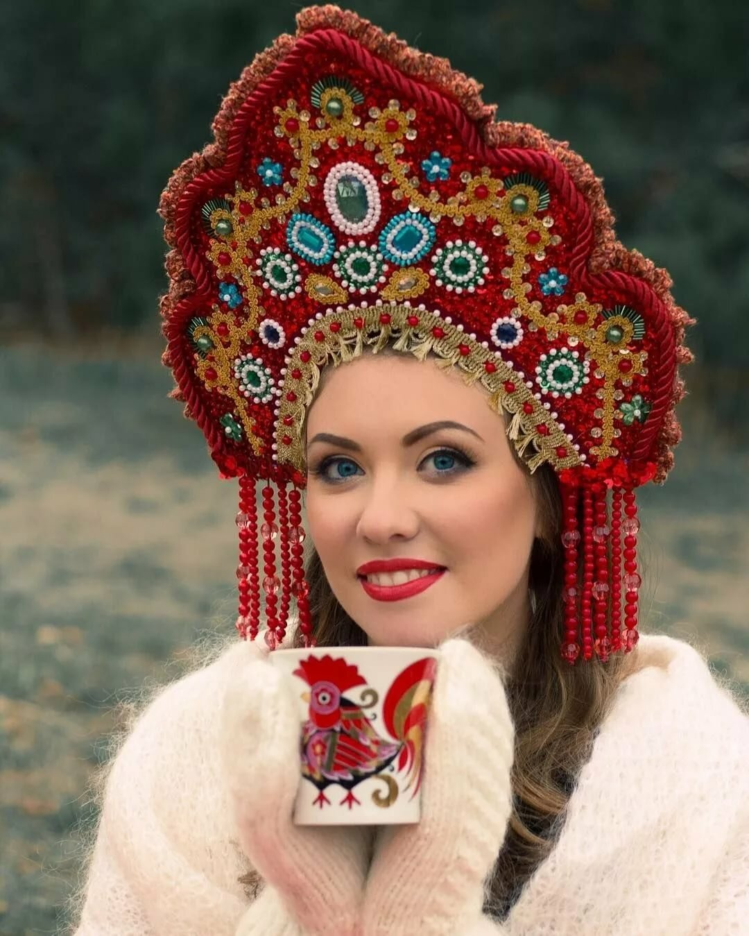 русский кокошник фото снайпером мира
