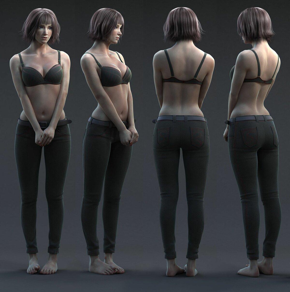 Вид со спины девушки референс