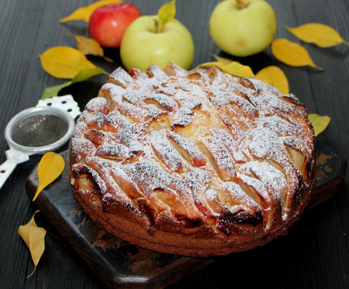 Яблочный пирог рецепт картинках