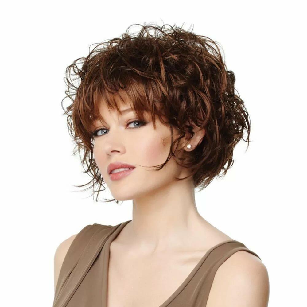 Стрижка для тонких вьющихся волос фото