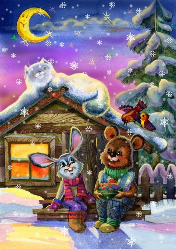 Картинки с новым годом с зайцами
