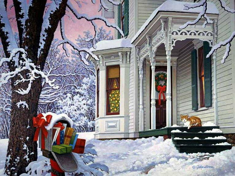 На дворе зима картинки