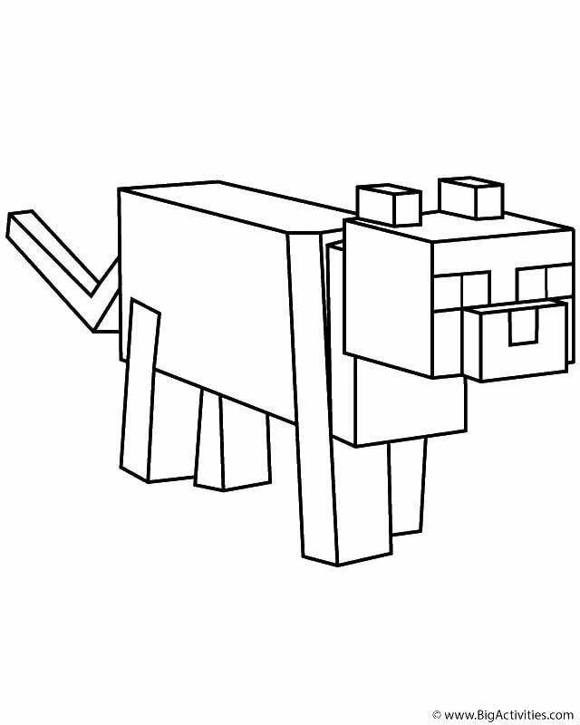 майнкрафт животные раскраска #2