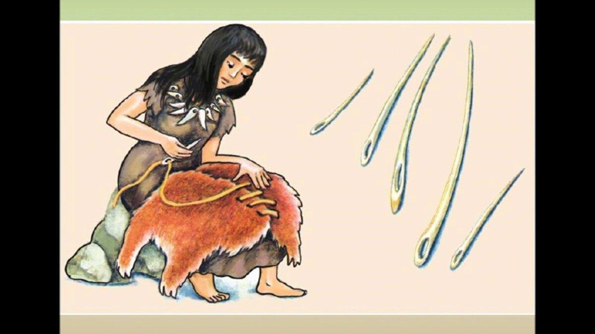 Картинка первобытного человека в шкуре животного