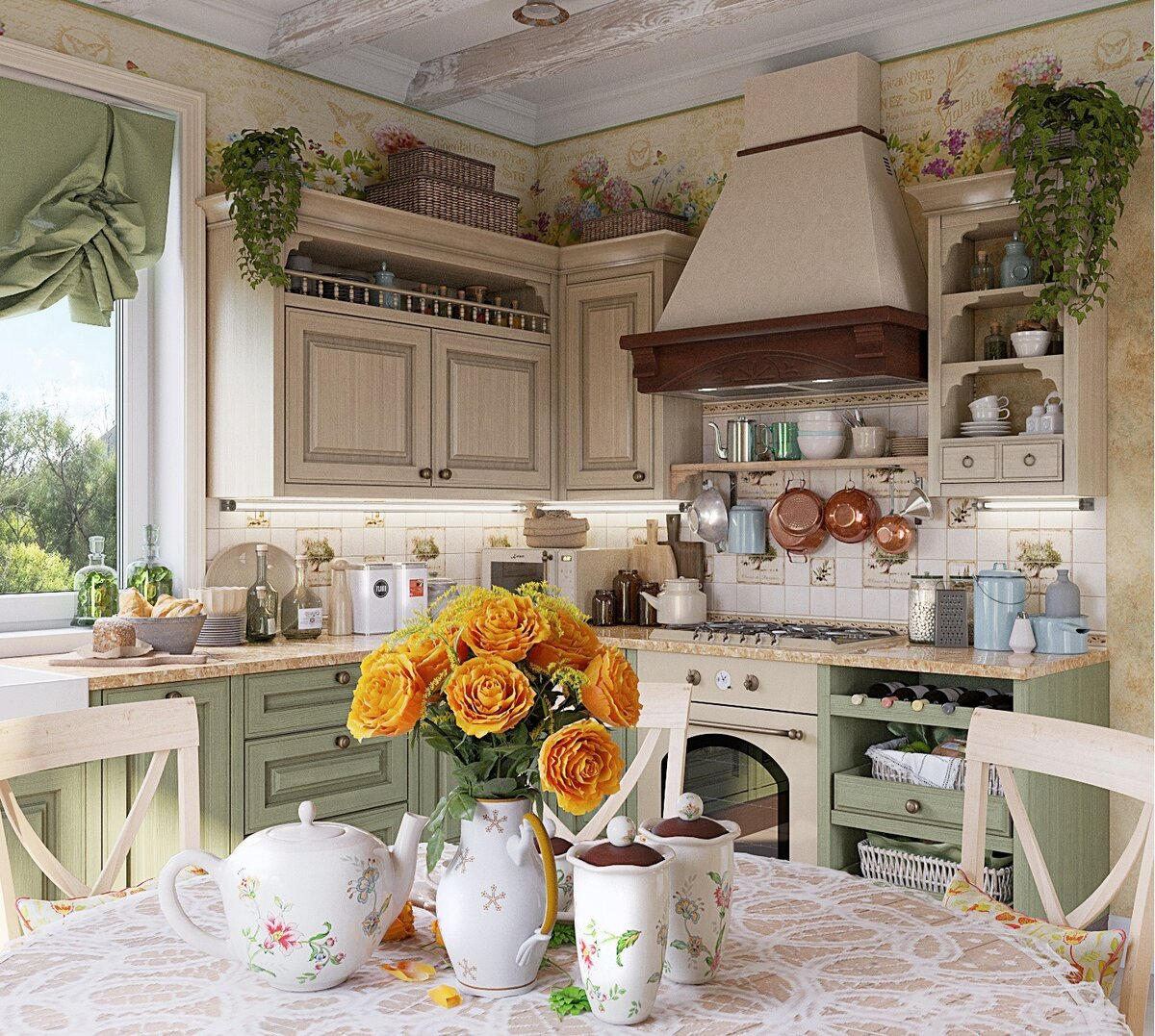 Картинка в стиле прованс на кухню