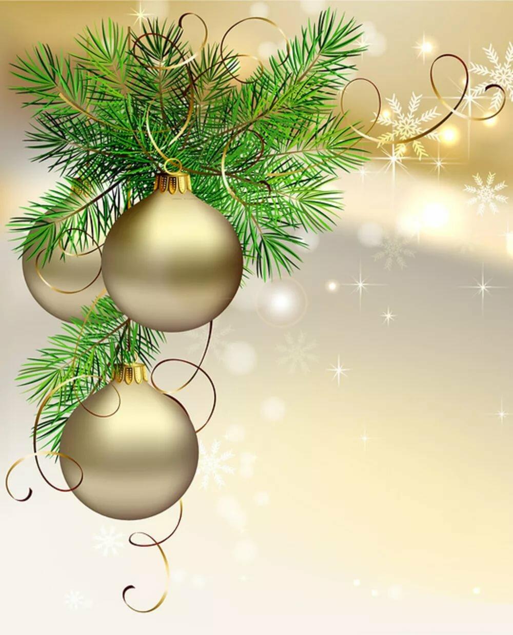 Новогодние украшения на открытку