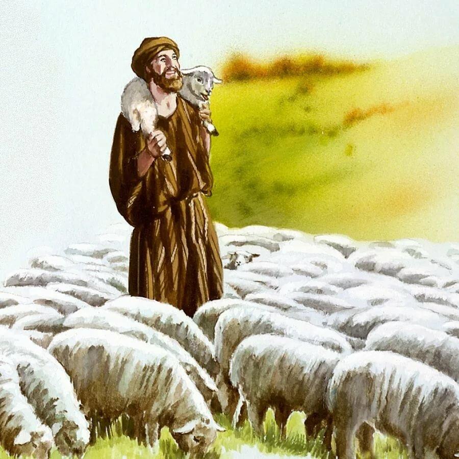 картинка пастуха с бараном соединяем