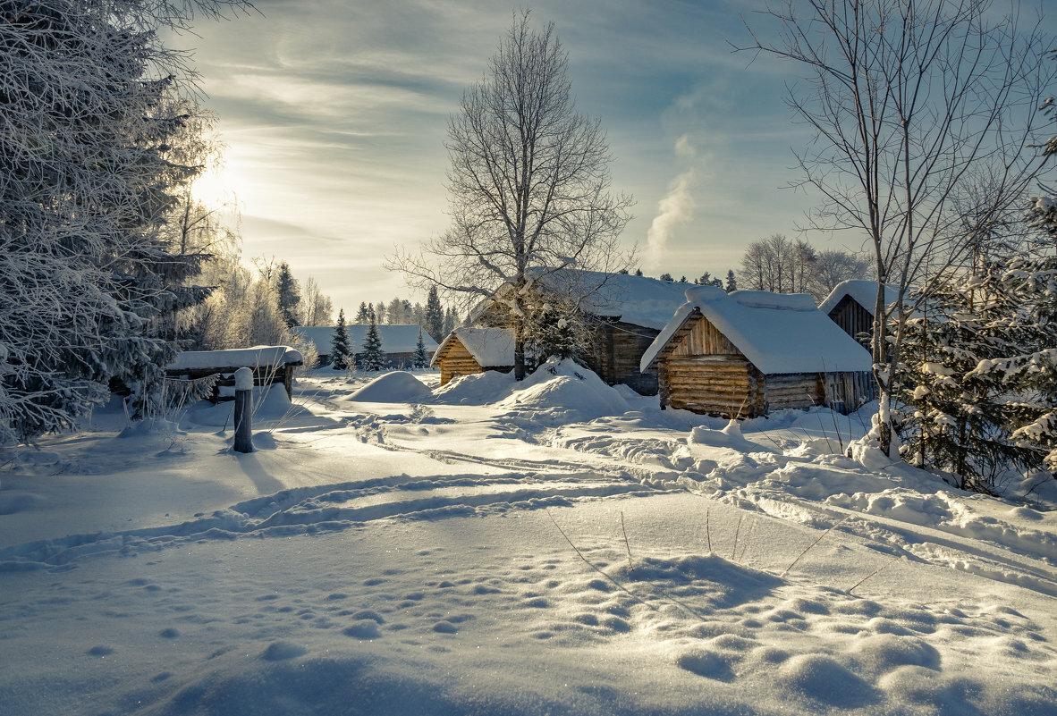 новинки запланирован зимний пейзаж в деревне фото нескольких словах