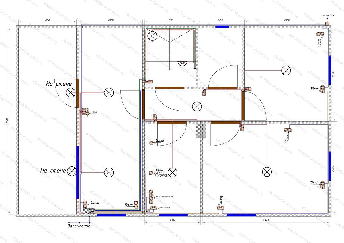 Электропроводка в деревянном доме схема кабельных линий.