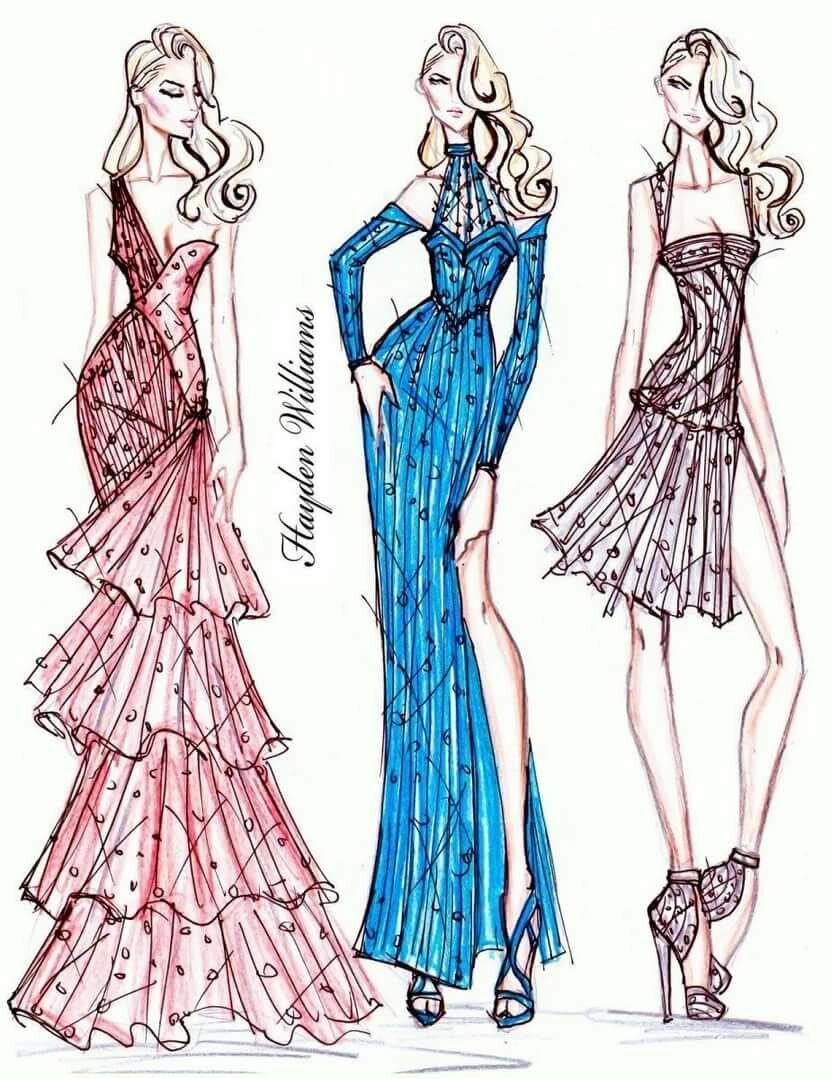 Рисунки карандашом платья для начинающих дизайнеров как странно
