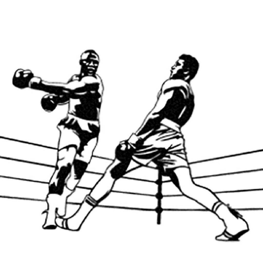 модели бой боксеров рисунок якобы