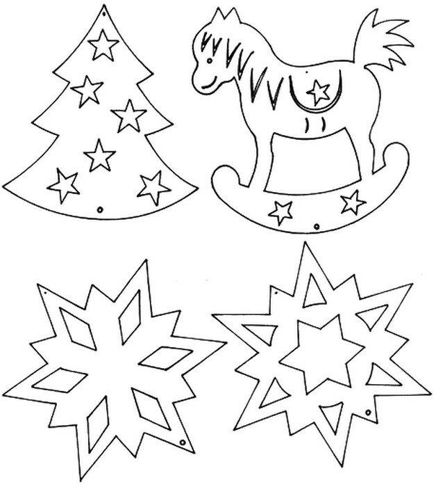 Распечатать картинки к новому году и вырезать