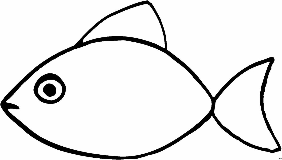 есть рыбка рисунок контур же, связи