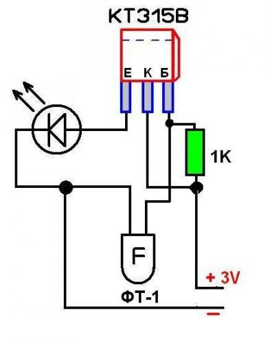 Подключение светодиодов через фоторезистор