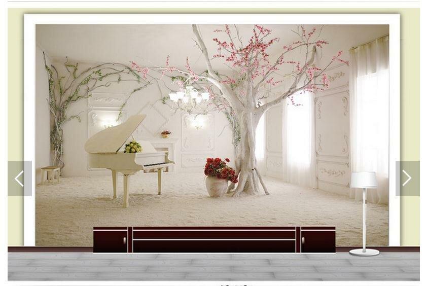 Фотообои рояль и дерево