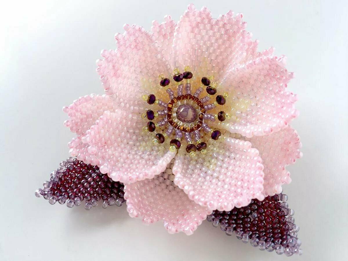 Цветы из бисера картинки из инстаграмма