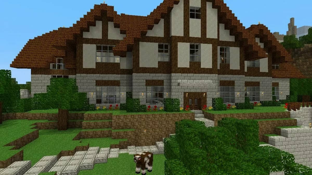 красивые большие дома в майнкрафте фото фото