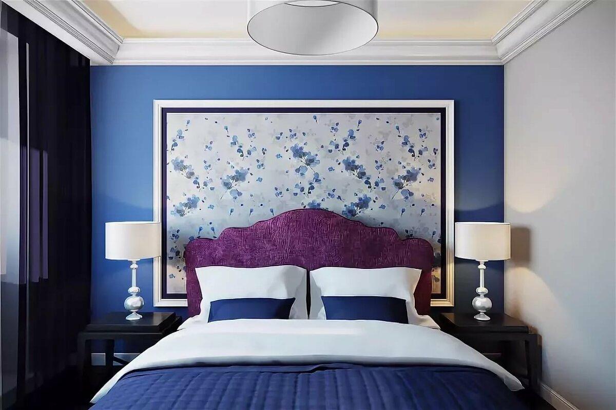 рассказывается, картинки на стену для интерьера в синем время